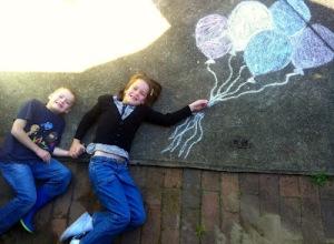 chalk balloons