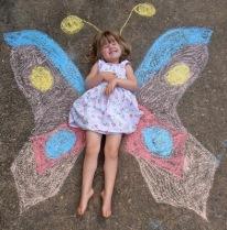 chalk butterfly